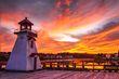 St Stephen lighthouse with brilliant sunset.jpg
