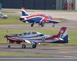 BRITISH AEROSPACE HAWK T1 XX278 SHORTS TUCANO ZF269 FAIRFORD 2012 P7059453.jpg
