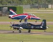 BRITISH AEROSPACE HAWK T1 XX278 SHORTS TUCANO ZF374 FAIRFORD 2012 P7059452.jpg