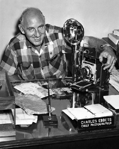 Charles C. Ebbets  (3-133LR) at desk as chief photographerof the City of Miami.jpg