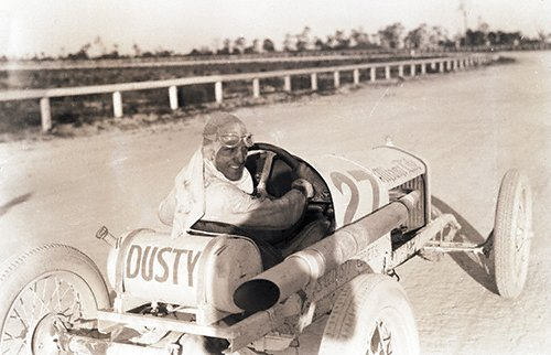 Charles C. Ebbets (3-039LR) in racing car at Daytona c. 1935.jpg