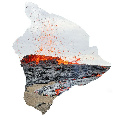 1HIHawaii Map  Beautiful Hawaii Volcano Lava Flow Photography