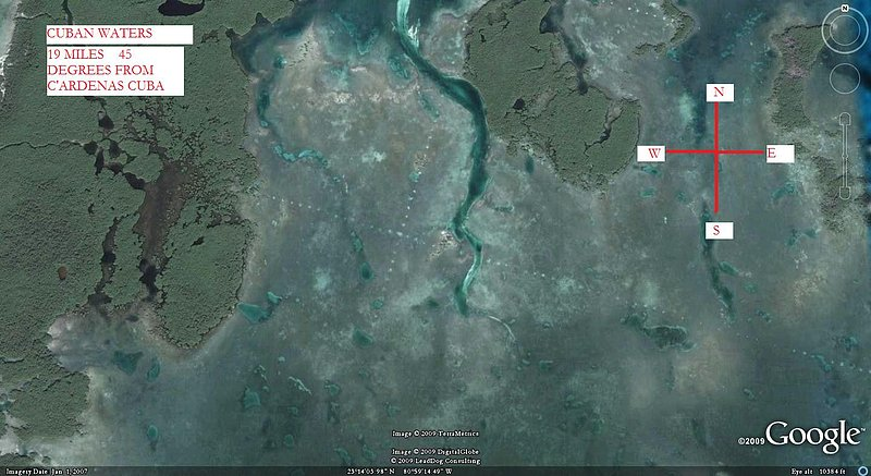CUBAN WATERS  X MARKS THE SPOT ONE--KEN PFEIFER--GOOGLE COPYRIGHT.jpg :: X