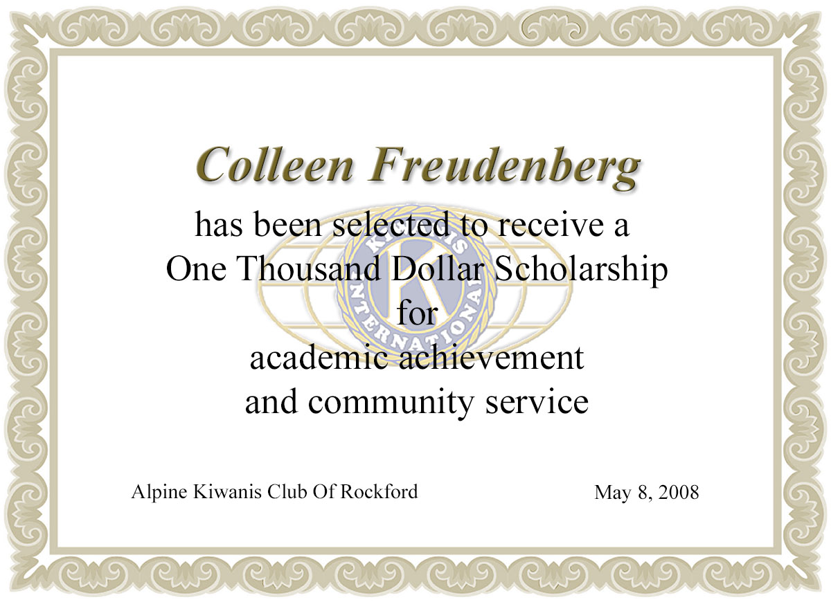 Scholarship Certificate Jal Imager John Lombardo Photographer