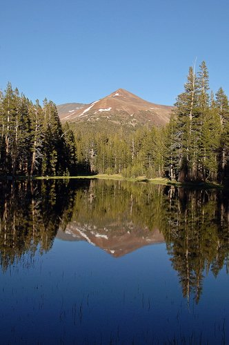 Mount Gibbs reflected in Siesta Lake - Yosemite CA 6-27-09 2_176.jpg