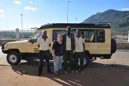 Our Tanzanian safari team at the border crossing at Namanga Tanzania D5200 072 11-22-14.jpg