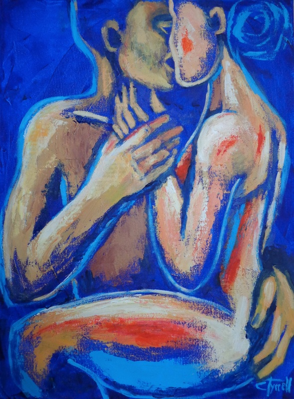 Lovers - Love Of My Life 3.jpg :: Original semi-abstract figurative painting on canvas, painted edges and ready to hang, frame is optional. New series \