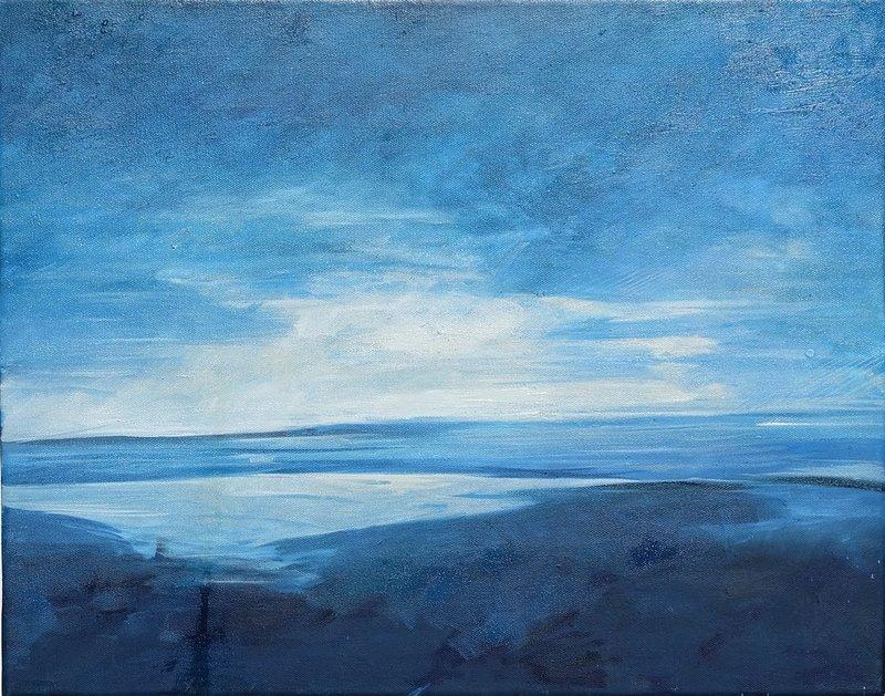 Its a blue dawn 2014.jpg :: oil on canvas