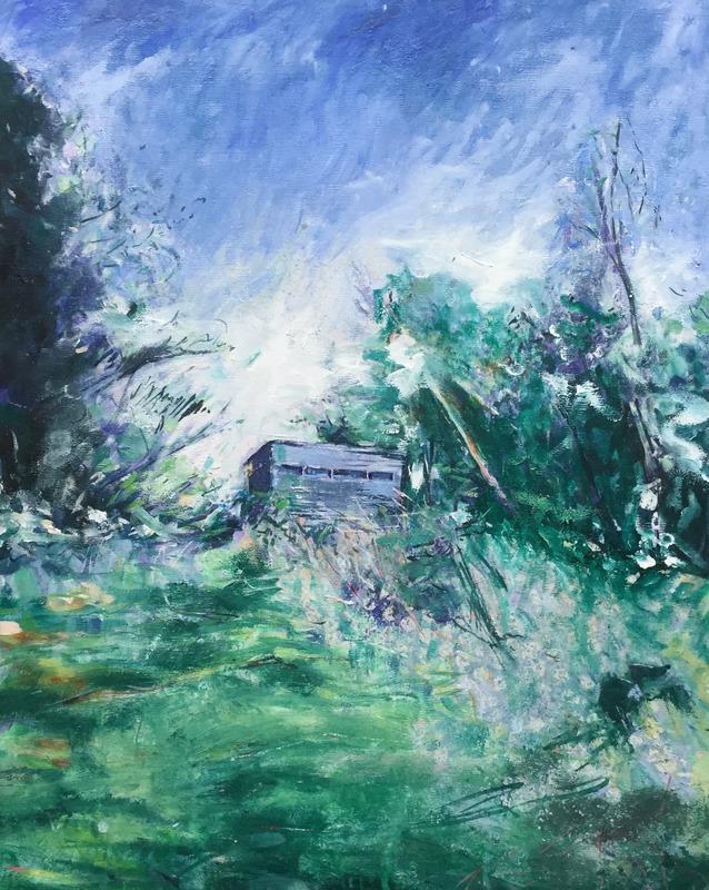 Bird watching Norfolk.jpg :: Oil on canvas