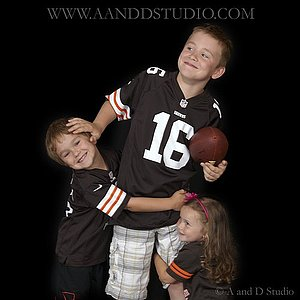 Kids bella portraits with A and D Studio Mentor, Ohio