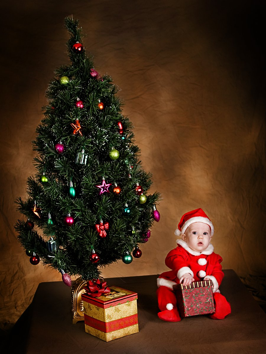 Baby-Christmas-Tree-Gift :: Faucett Photography
