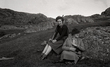 Glencassley 1941 Bobby and Daisy on the hill Film 13 DL Wartime 35mm negs 1399.jpg
