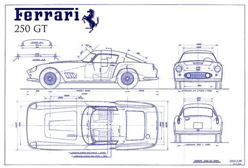 Automobile Blueprint & Patent Drawings :: Creative Wine Art