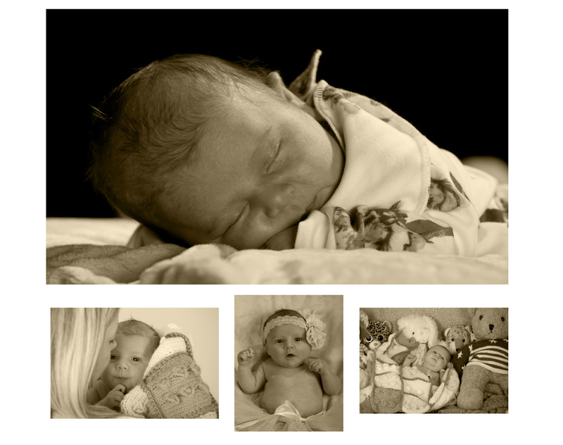 Newborn-Collage.jpg :: Customise your baby's first weeks with a beautiful collage.