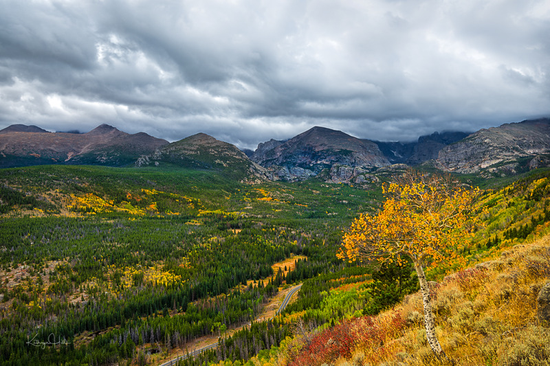 Moody Fall.jpg :: Storm clearing on a moody autumn day along Bear Lake Road, Rocky Mountain National Park, Colorado, USA.