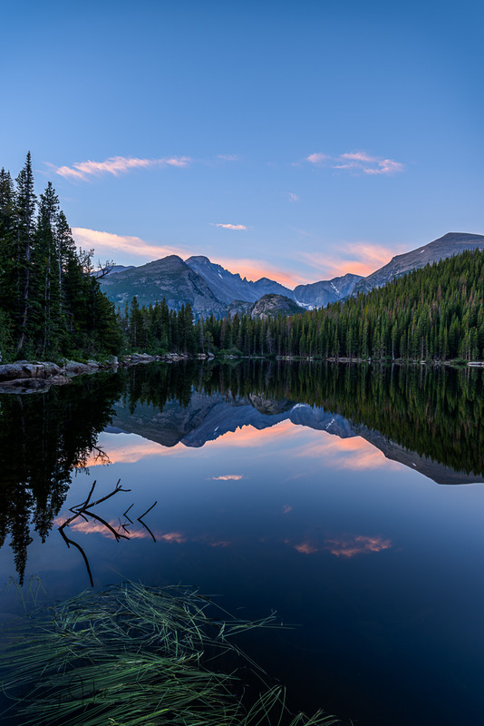 Quiet Time.jpg :: Quiet reflections during early morning at Colorado's Bear Lake, Rocky Mountain National Park