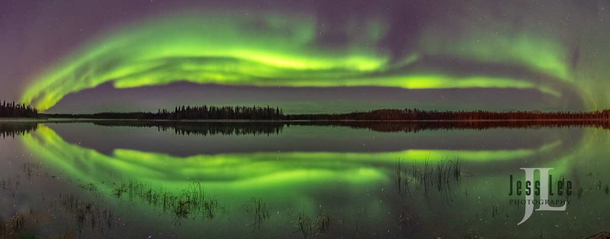 Autumn Aurora Reflections