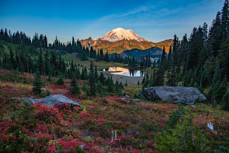 Autumn_mt-Rainier_JRL5380(1).jpg :: Autumn Color at Mt Rainier.