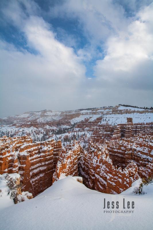 Bryce  Winter Snow-0648.jpg :: Red Reocks and hoodos Utah photo