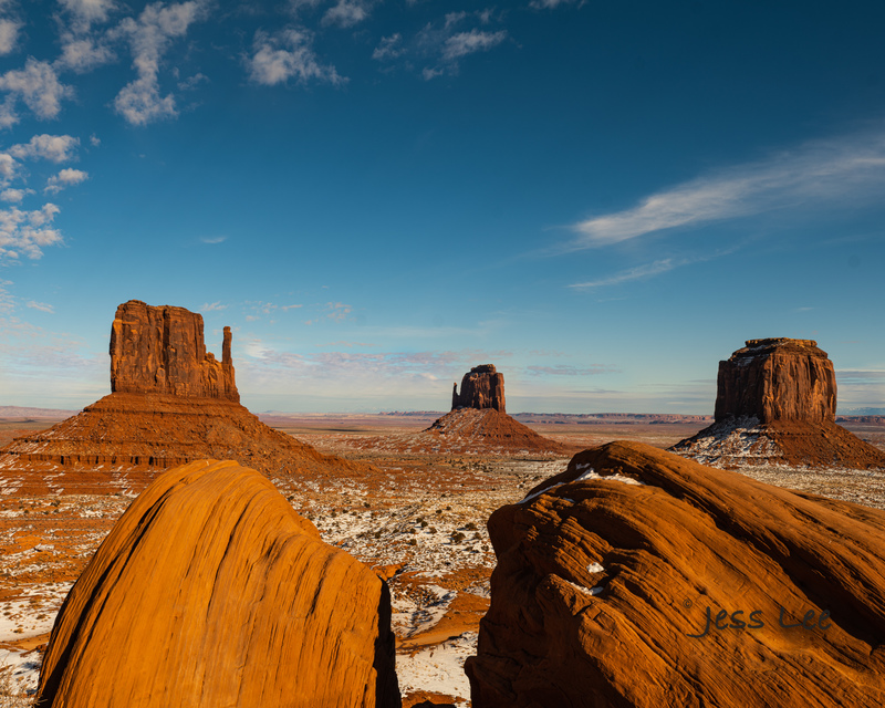 Monument-Valley-twins_JLE9719(1).jpg :: Twin rocks Monument Valley limited edition fine art print for sale.