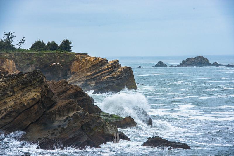 Ocean sea breaking waves print_LEE1433.jpg :: Breaking waves on Oregon coast photo print
