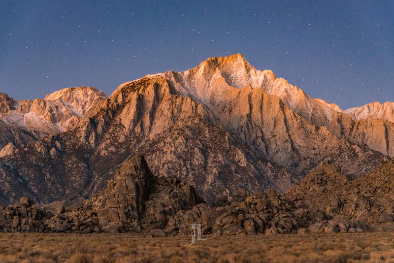 Sierra-peak-.jpg :: Sierra Nevada sunrise with snow from Owens Valley California