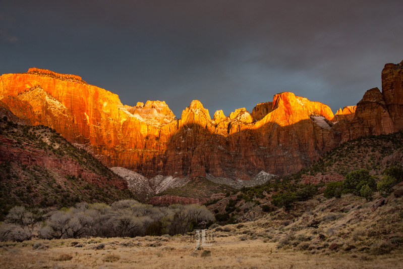 Zion-sunrise-8665.jpg :: Zion Sunrise Limited edition fine art collector photography prints of the desert Southwest for sale