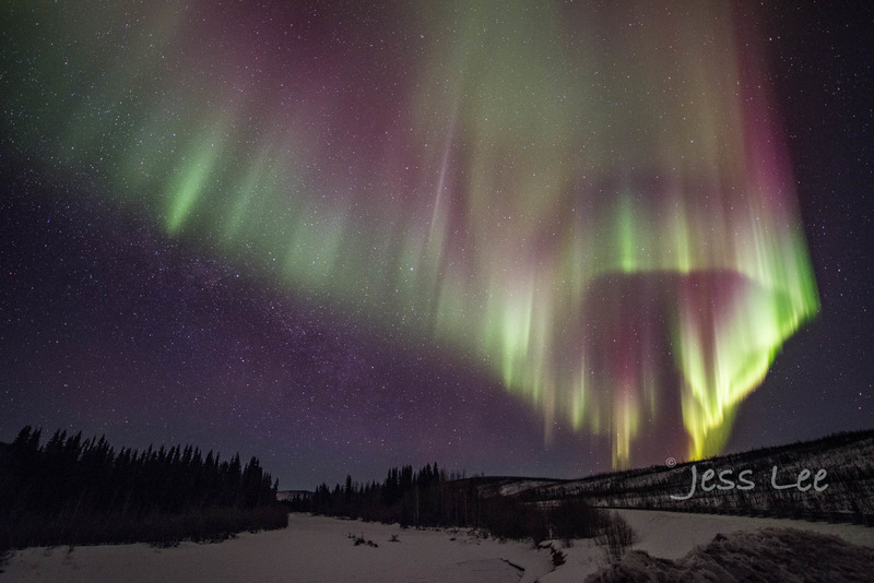 circlehorz-4941-081a7.jpg :: Circular Aurora Borealis in Alaska during photography workshop with Jess Lee