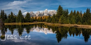 Teton reflection in Fall