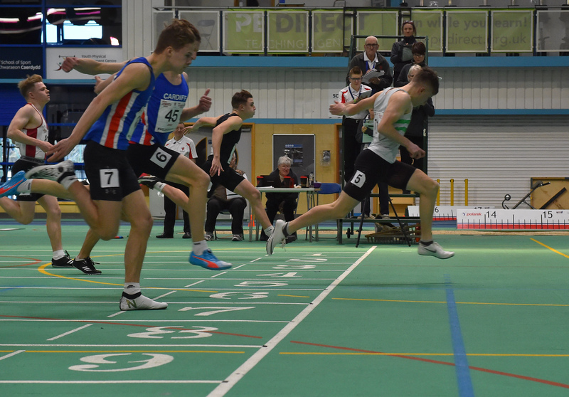 GGS_0046.jpg :: in action during the Welsh Junior Athletics Championships 2019 at N.I.A.C Cardiff United Kingdom on February 02 2019 Graham / GlennSports