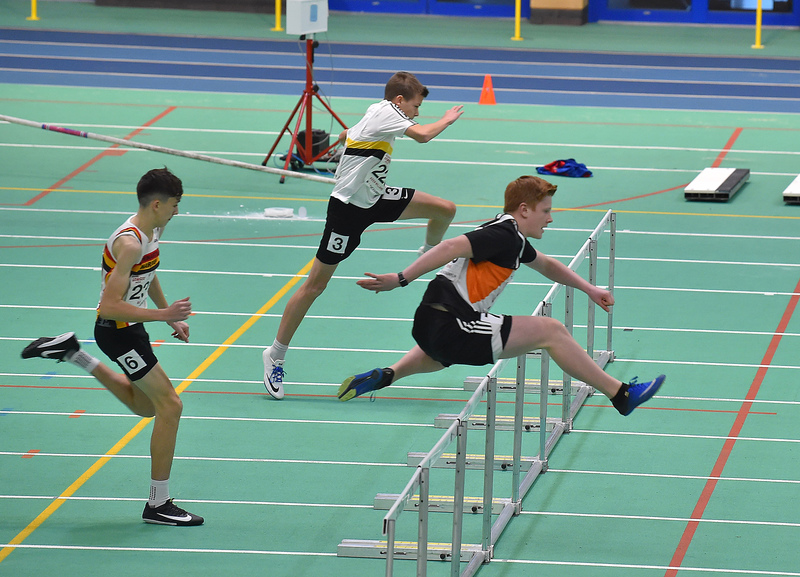 GGS_0122.jpg :: in action during the Welsh Junior Athletics Championships 2019 at N.I.A.C Cardiff United Kingdom on February 02 2019 Graham / GlennSports