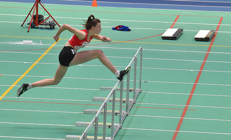GGS_0126.jpg :: in action during the Welsh Junior Athletics Championships 2019 at N.I.A.C Cardiff United Kingdom on February 02 2019 Graham / GlennSports