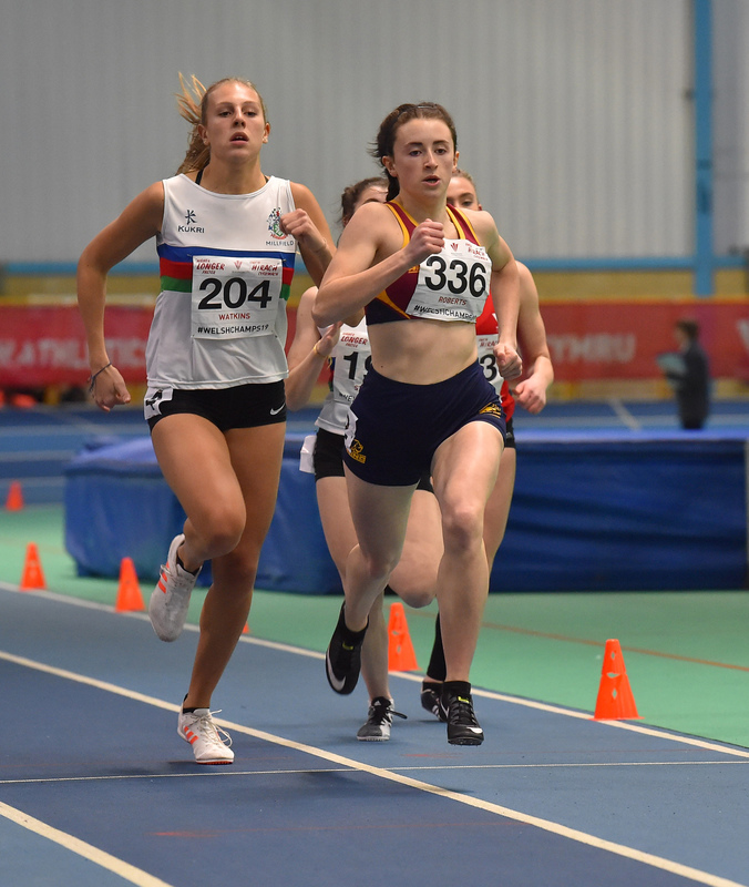 GGS_0154.jpg :: in action during the Welsh Junior Athletics Championships 2019 at N.I.A.C Cardiff United Kingdom on February 02 2019 Graham / GlennSports