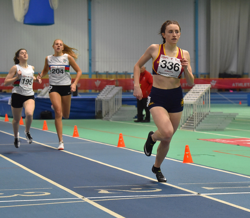 GGS_0155.jpg :: in action during the Welsh Junior Athletics Championships 2019 at N.I.A.C Cardiff United Kingdom on February 02 2019 Graham / GlennSports