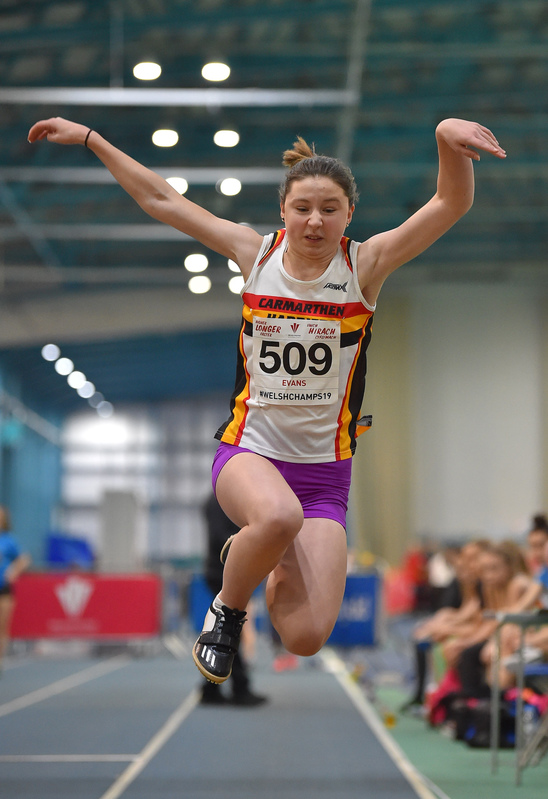 GGS_9971.jpg :: in action during the Welsh Junior Athletics Championships 2019 at N.I.A.C Cardiff United Kingdom on February 02 2019 Graham / GlennSports