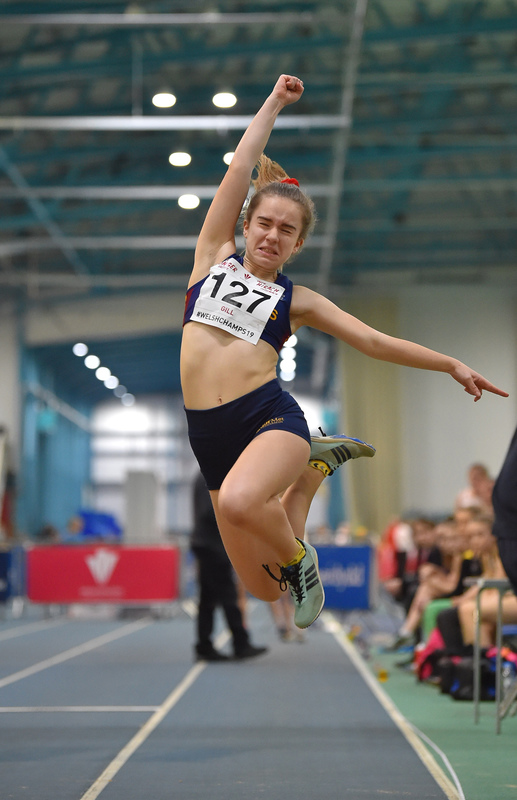 GGS_9973.jpg :: in action during the Welsh Junior Athletics Championships 2019 at N.I.A.C Cardiff United Kingdom on February 02 2019 Graham / GlennSports