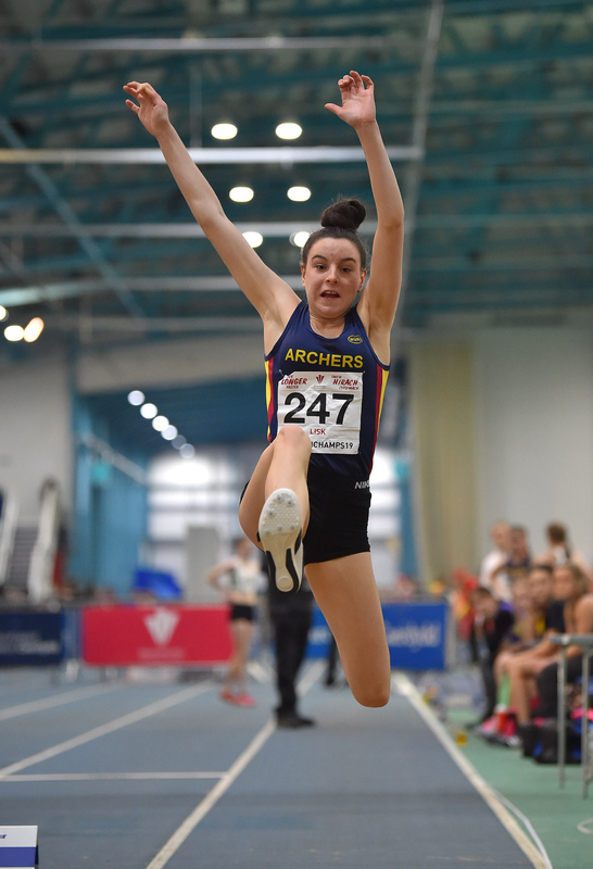 GGS_9978.jpg :: in action during the Welsh Junior Athletics Championships 2019 at N.I.A.C Cardiff United Kingdom on February 02 2019 Graham / GlennSports