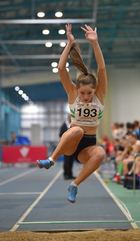 GGS_9982.jpg :: in action during the Welsh Junior Athletics Championships 2019 at N.I.A.C Cardiff United Kingdom on February 02 2019 Graham / GlennSports