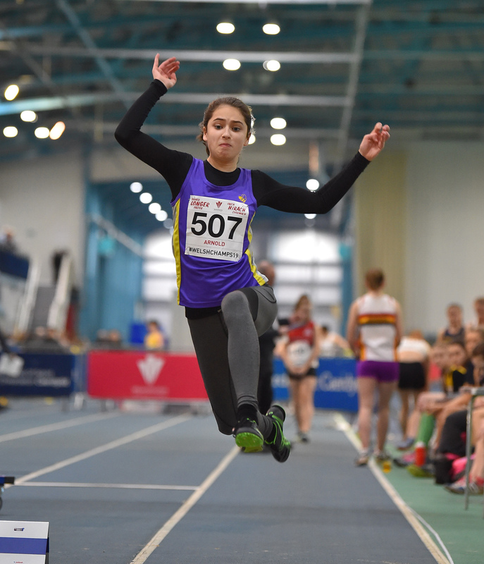 GGS_9985.jpg :: in action during the Welsh Junior Athletics Championships 2019 at N.I.A.C Cardiff United Kingdom on February 02 2019 Graham / GlennSports