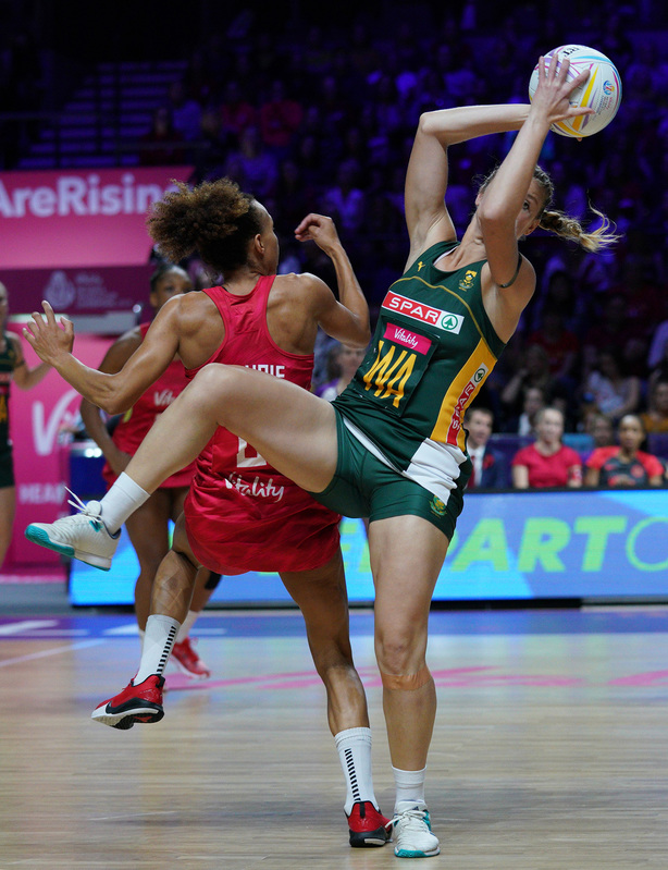 G_Glendinning_SA907310.jpg :: Izette Griesel (RSA) in action during Vitality Netball World Cup 2019 at M&S Bank Arena Liverpool United Kingdom on July 18 2019. GlennSports.
