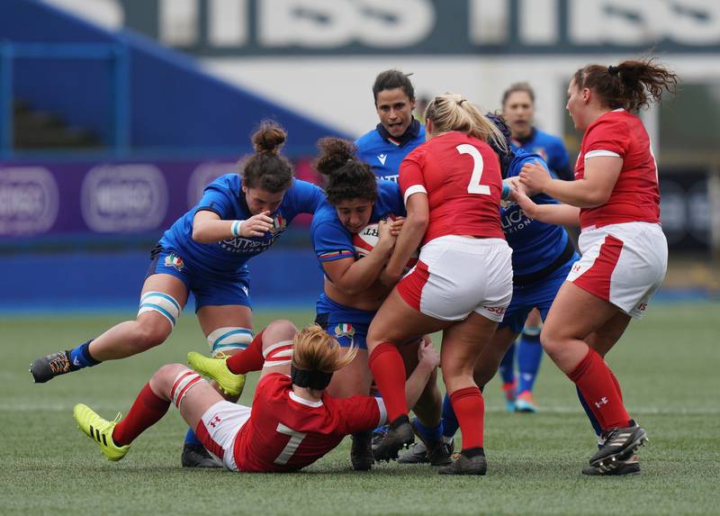 SA900718.jpg :: Silvia Turani (Italy) in action during the  Womens Six Nations Rugby at Cardiff Arms Park Cardiff United Kingdom on February 02 2020 Graham / GlennSports