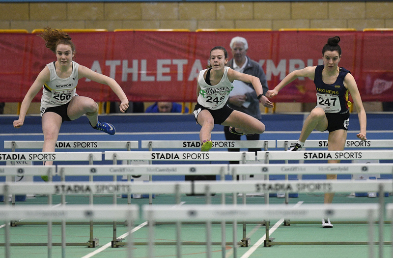 _GRG5970.jpg :: in action during the Welsh Junior Athletics Championships 2019 at N.I.A.C Cardiff United Kingdom on February 02 2019 Graham / GlennSports