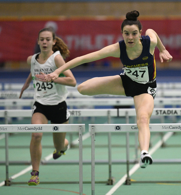 _GRG5978.jpg :: in action during the Welsh Junior Athletics Championships 2019 at N.I.A.C Cardiff United Kingdom on February 02 2019 Graham / GlennSports