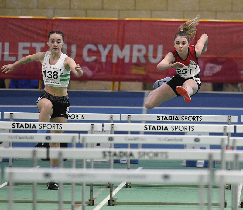 _GRG5980.jpg :: in action during the Welsh Junior Athletics Championships 2019 at N.I.A.C Cardiff United Kingdom on February 02 2019 Graham / GlennSports