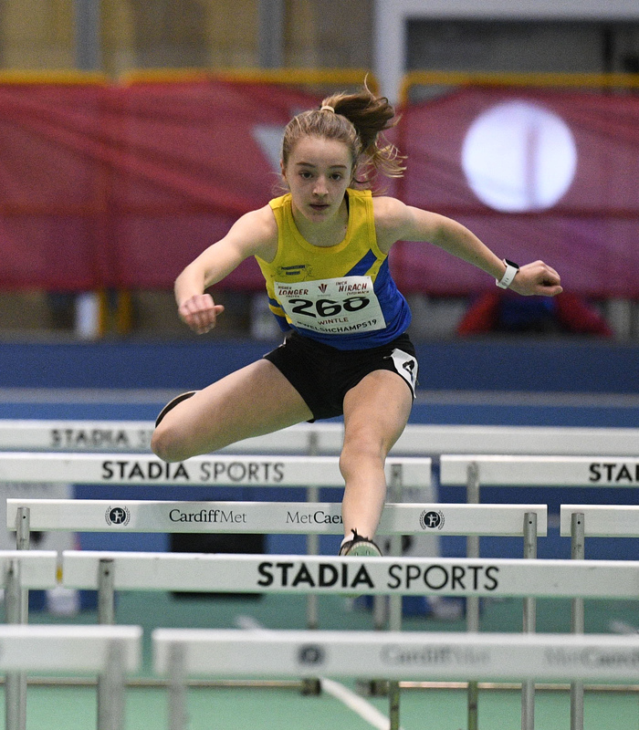 _GRG5986.jpg :: in action during the Welsh Junior Athletics Championships 2019 at N.I.A.C Cardiff United Kingdom on February 02 2019 Graham / GlennSports