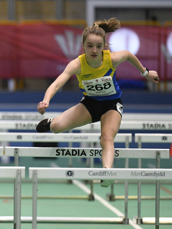 _GRG5989.jpg :: in action during the Welsh Junior Athletics Championships 2019 at N.I.A.C Cardiff United Kingdom on February 02 2019 Graham / GlennSports