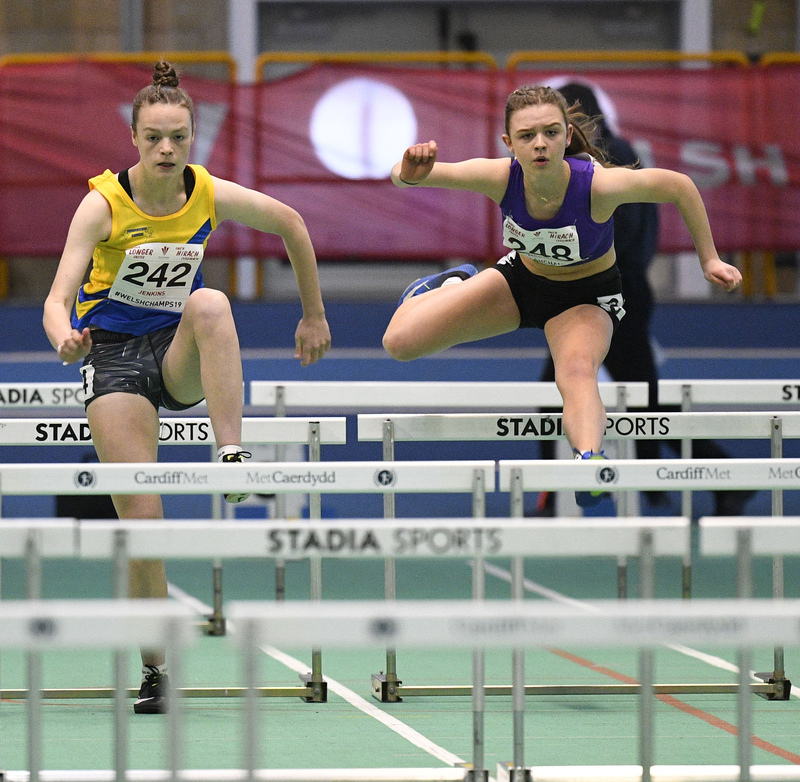 _GRG5998.jpg :: in action during the Welsh Junior Athletics Championships 2019 at N.I.A.C Cardiff United Kingdom on February 02 2019 Graham / GlennSports