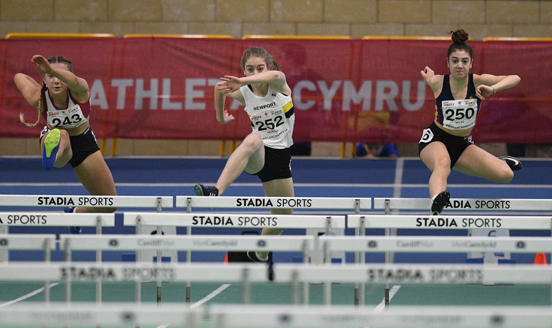 _GRG6007.jpg :: in action during the Welsh Junior Athletics Championships 2019 at N.I.A.C Cardiff United Kingdom on February 02 2019 Graham / GlennSports