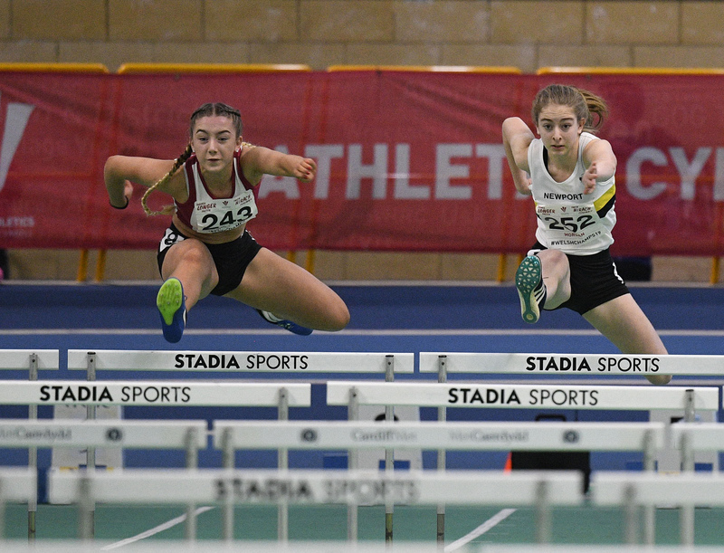 _GRG6008.jpg :: in action during the Welsh Junior Athletics Championships 2019 at N.I.A.C Cardiff United Kingdom on February 02 2019 Graham / GlennSports
