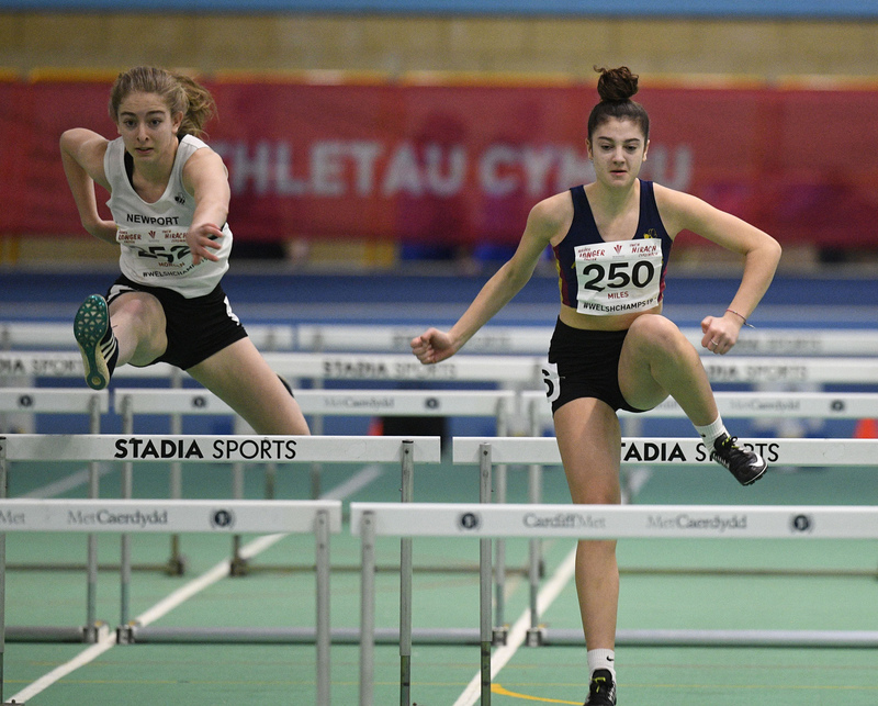 _GRG6016.jpg :: in action during the Welsh Junior Athletics Championships 2019 at N.I.A.C Cardiff United Kingdom on February 02 2019 Graham / GlennSports